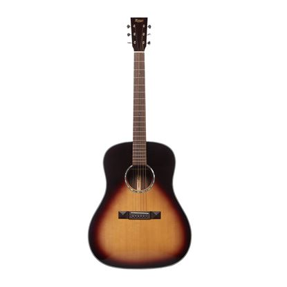 Tasman TA200D-EL LH Drop Shoulder Acoustic Electric Guitar with Case - Front