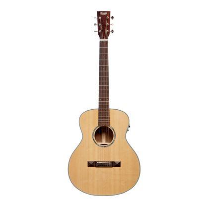 Tasman TA100M-EL Left Handed Mini Jumbo Guitar - Front