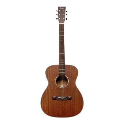 Tasman TA150O-E OM Acoustic Electric Guitar with Case - Front