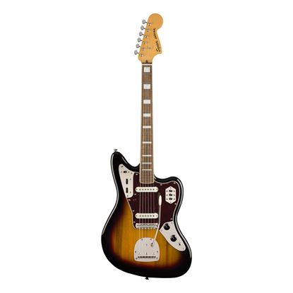 Squier Classic Vibe 70s Jaguar Electric Guitar - Laurel Fretboard - 3-Colour Sunburst - Front