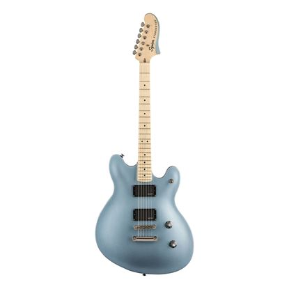 Squier Contemporary Active Starcaster Electric Guitar - Maple Neck - Ice Blue Metallic - Front