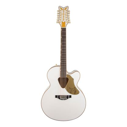 Gretsch G5022CWFE-12 Rancher Falcon 12 String Acoustic Guitar White - Front