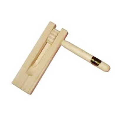 Mano Percussion Wooden Hand-Held Rotating Ratchet