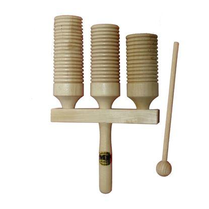 Mano Percussion UE785 Triple Guiro Wood Tone Block
