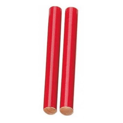 Mano Percussion UE787RD 7inch Coloured Hardwood Claves - Red