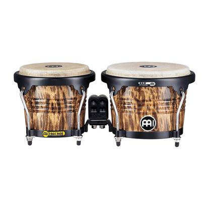 Meinl FWB190LB 6 3/4 & 8in Free Ride Series Wood Bongos in Leopard Burl