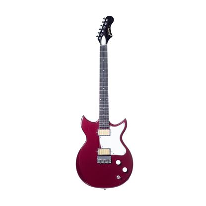 Harmony Rebel Electric Guitar in Burgundy - Front