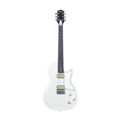Harmony Jupiter Electric Guitar in Pearl White - Front