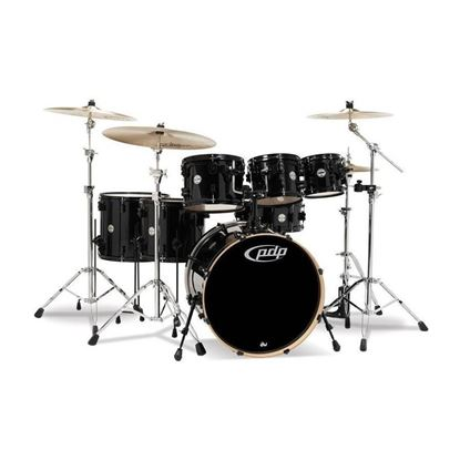 PDP Concept Maple Series 7 Piece Shell Pack 22 Inch - Black Sparkle (with Evans Upgrade Pack)