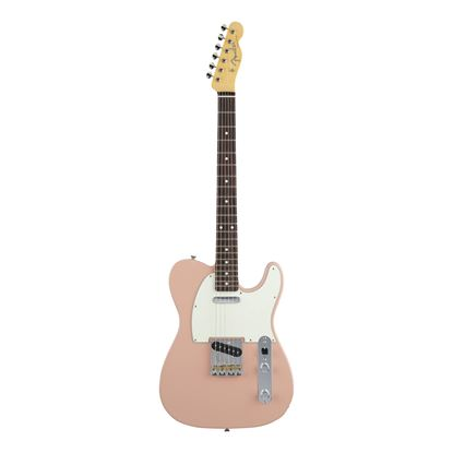 Fender MIJ Hybrid 60's Telecaster Electric Guitar with Rosewood Fingerboard in Flamingo Pink - Front
