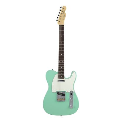 Fender MIJ Hybrid 60's Telecaster Electric Guitar with Rosewood Fingerboard in Surf Green - Front