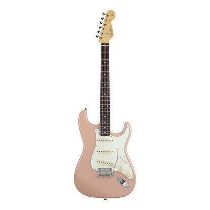 Fender MIJ Hybrid 60's Stratocaster Electric Guitar with Rosewood Fingerboard in Flamingo Pink - Front