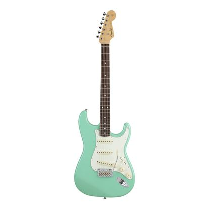 Fender MIJ Hybrid 50's Stratocaster Electric Guitar with Rosewood Fingerboard in Surf Green - Front