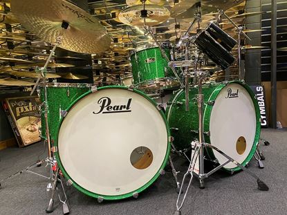 Pearl FW943XPC-169 Wood Fibreglass 24inch 4-Piece Drum Kit in Green Sparkle Lacquer