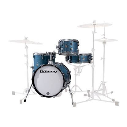 Ludwig Breakbeats Shell Pack in Azure Blue Sparkle