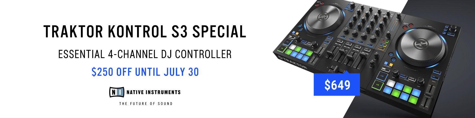 Save $250 on The Traktor S3 DJ Controller (while stocks last)