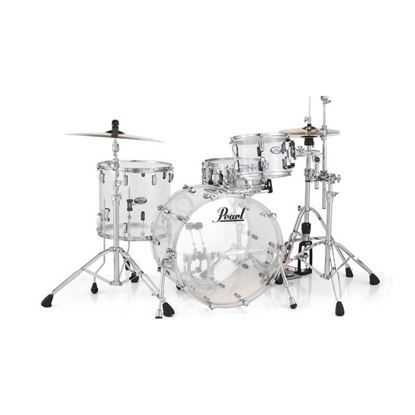 Pearl Crystal Beat 20 inch 3-Piece Drum Kit - Ultra Clear