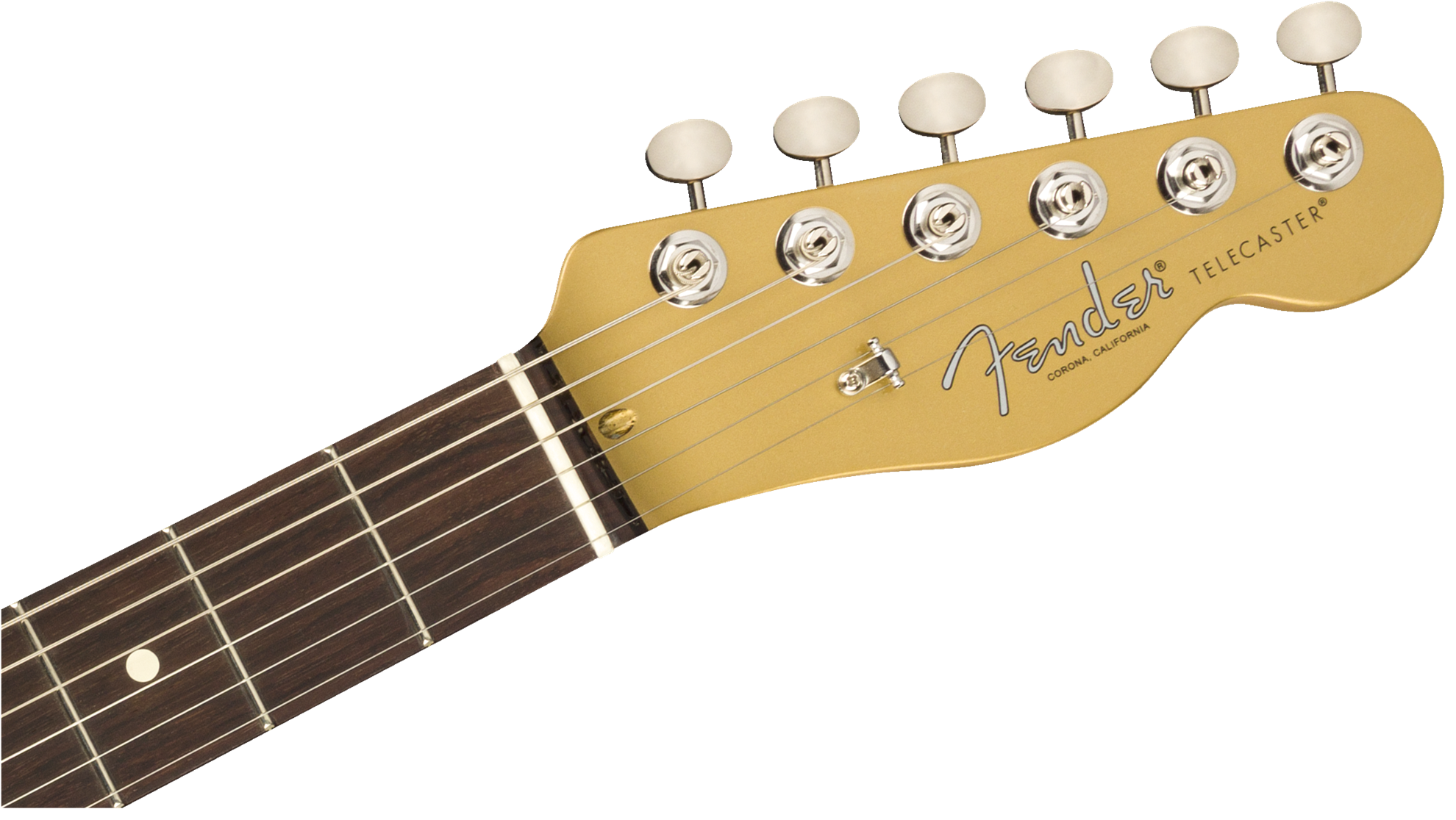 Fender Cabronita Telecaster Limited Edition Electric Guitar with Rosewood Fingerboard in Aztec Gold - Head