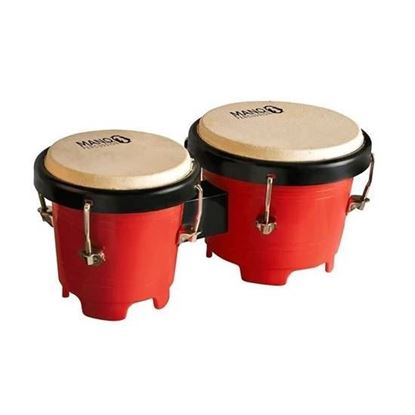 Mano Percussion TDK16R Tunable Mini Bongos - Red