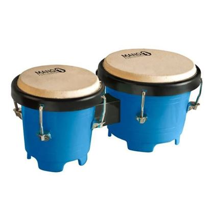 Mano Percussion TDK16BL Tunable Mini Bongos - Blue