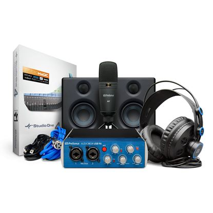 PreSonus USB96 Studio Ultimate Bundle with USB Interface, E.35 Monitors M7 Mic , HD7 & DAW