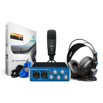 PreSonus USB96 Studio Pack with USB Audio Interface, M7 Mic & HD7 Headphones