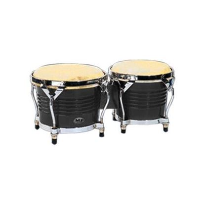 Mano Percussion MP1778BK 7 & 8in Bongos in Black