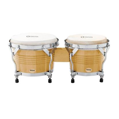 Mano Percussion MP1778NA 7 & 8in Bongos in Natural