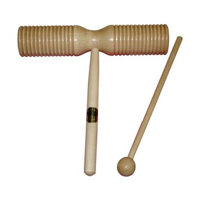 Mano Percussion UE53 Double Ended Guiro Wood Tone Block