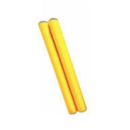 Mano Percussion UE787YL 7inch Coloured Hardwood Claves - Yellow