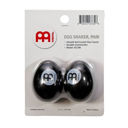 Meinl ES2-BK Egg Shaker in Black (Pair)
