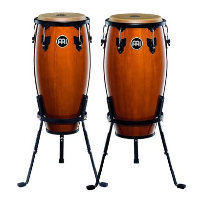 Meinl HC512MA 11 & 12in Headliner Series Wood Conga Set in Maple with Basket Stands