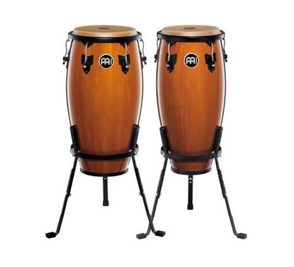 Meinl HC555MA 10 & 11in Headliner Series Wood Conga Set in Maple with Basket Stands