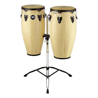 Meinl HC812NT 11 & 12in Headliner Series Wood Conga Set in Natural with Double Stands
