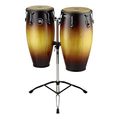 Meinl HC812VSB 11 & 12in Headliner Series Wood Conga Set with Double Stands in Vintage Sunburst