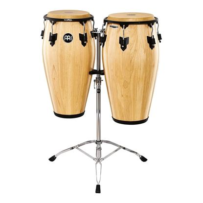 Meinl MCC-SET-NT 11 & 11 3/4in Marathon Classic Series Wood Conga Set in Natural with Stand