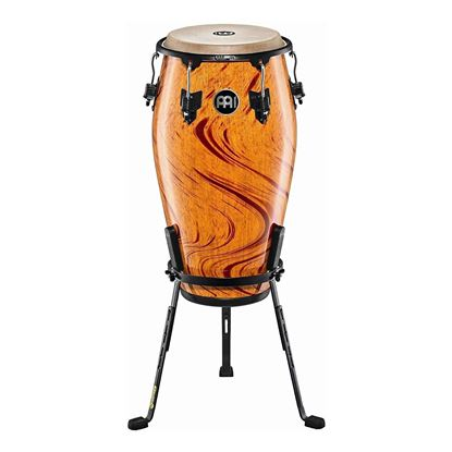 Meinl MCC1134AF 11 3/4in Marathon Classic Series Conga in Amber Flame with Steely LI Stand