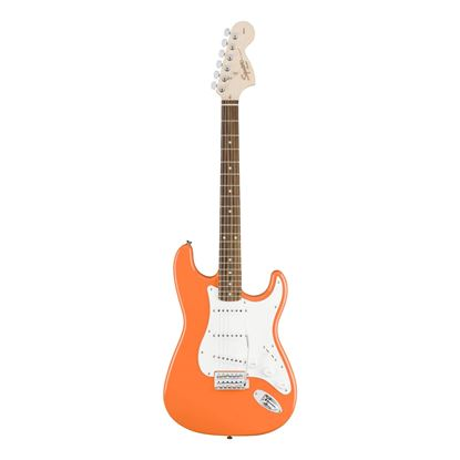Squier Affinity Series Stratocaster with Laurel Fingerboard in Competition Orange - Front