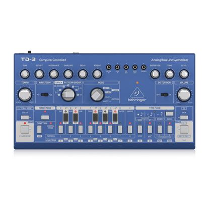 Behringer TD3-BU Analog Bass Line Synthesizer in Blue - Top