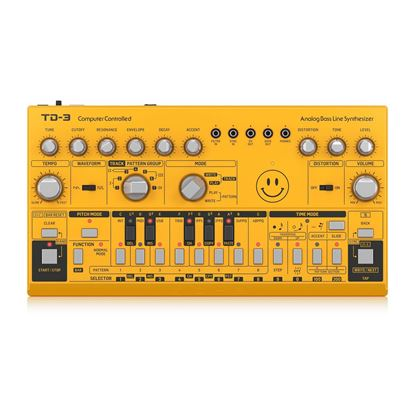 Behringer TD3-AM Analog Bass Line Synthesizer in Yellow - Top