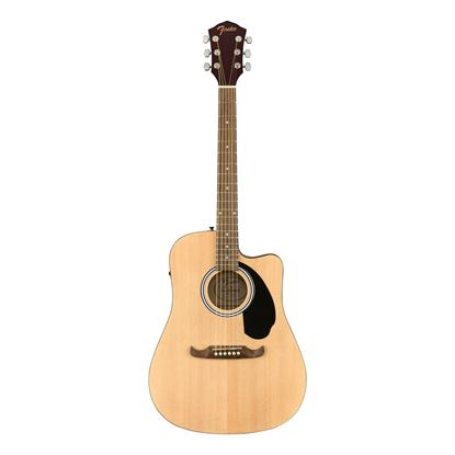Fender FA-125CE Dreadnought Acoustic Guitar with Walnut Fingerboard in Natural - Front