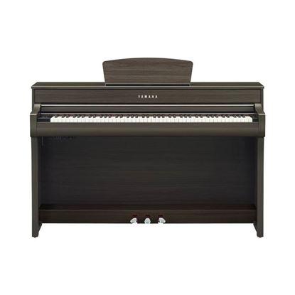 Yamaha CLP735 Clavinova Digital Piano with Bench in Dark Walnut - Front