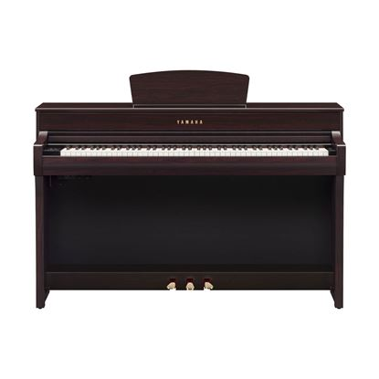 Yamaha CLP735 Clavinova Digital Piano with Bench in Rosewood - Front