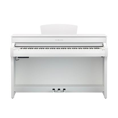 Yamaha CLP735 Clavinova Digital Piano with Bench in White - Front