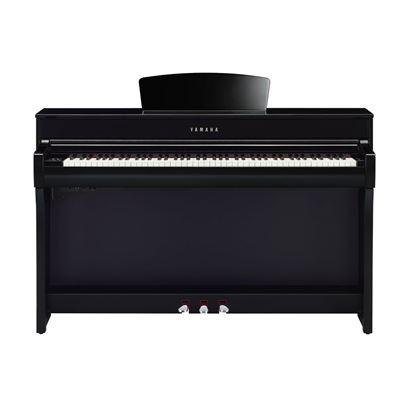 Yamaha CLP735 Clavinova Digital Piano with Bench in Polished Ebony - Front