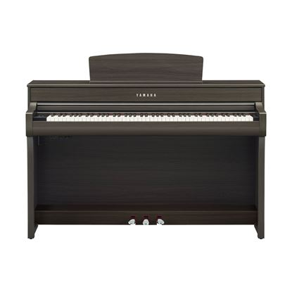 Yamaha CLP745 Clavinova Digital Piano with Bench in Dark Walnut - Front
