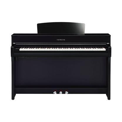 Yamaha CLP745 Clavinova Digital Piano with Bench in Polished Ebony - Front