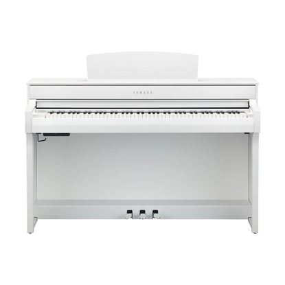 Yamaha CLP745 Clavinova Digital Piano with Bench in White - Front