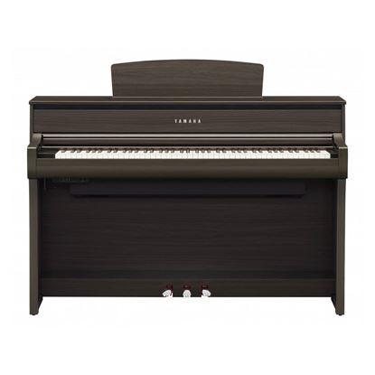 Yamaha CLP775 Clavinova Digital Piano with Bench in Dark Walnut - Front