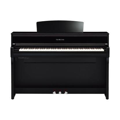 Yamaha CLP775 Clavinova Digital Piano with Bench in Polished Ebony - Front